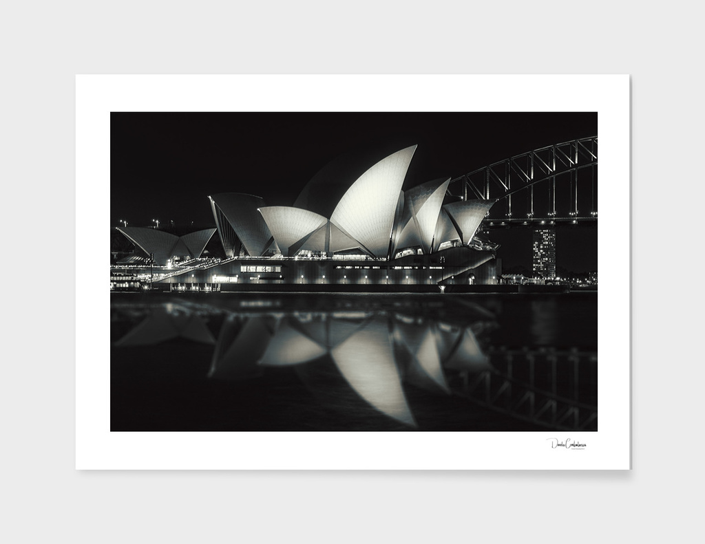 Quiet night at Sydney Opera House