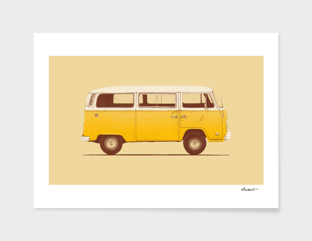 Famous Car #3 - VW Combi T2 main illustration