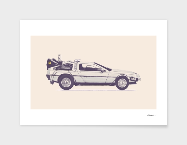 Famous Car #2 - Back to the Future's Delorean main illustration