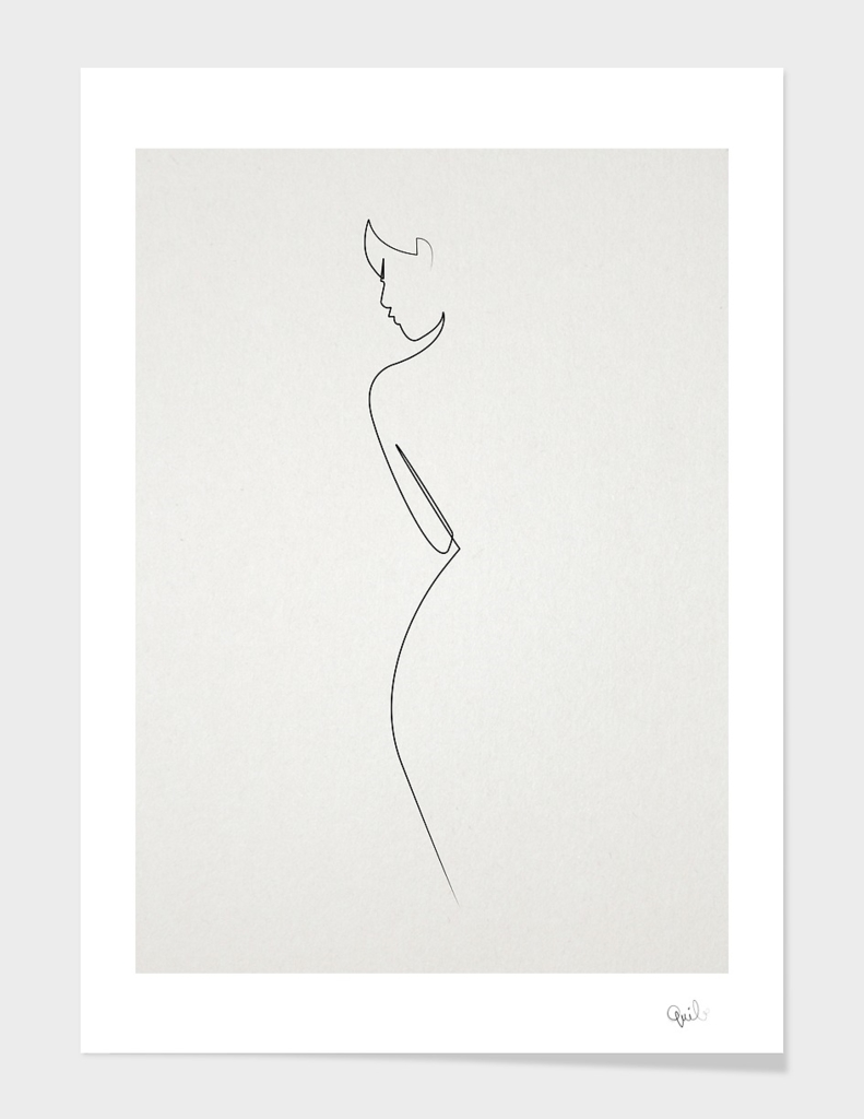 One Line nude main illustration