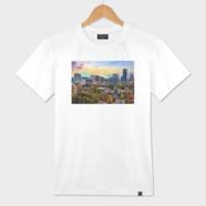 Downtown portland oregon at end of day numbered edition for T shirt printing in portland oregon