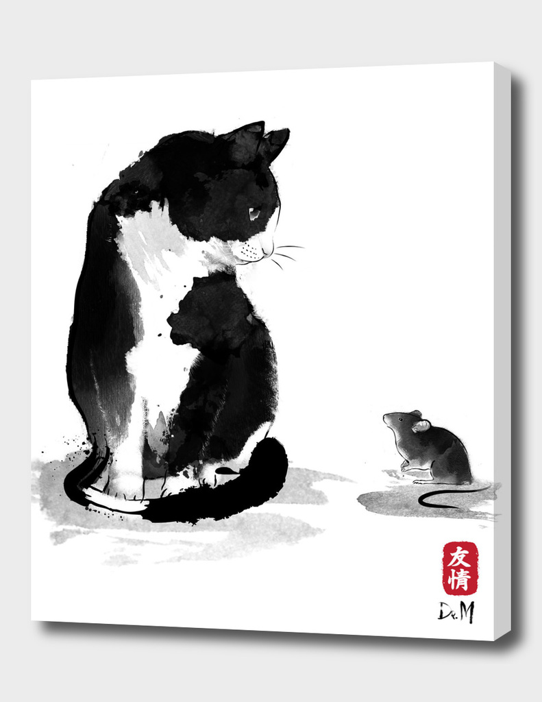 The cat and the little mouse