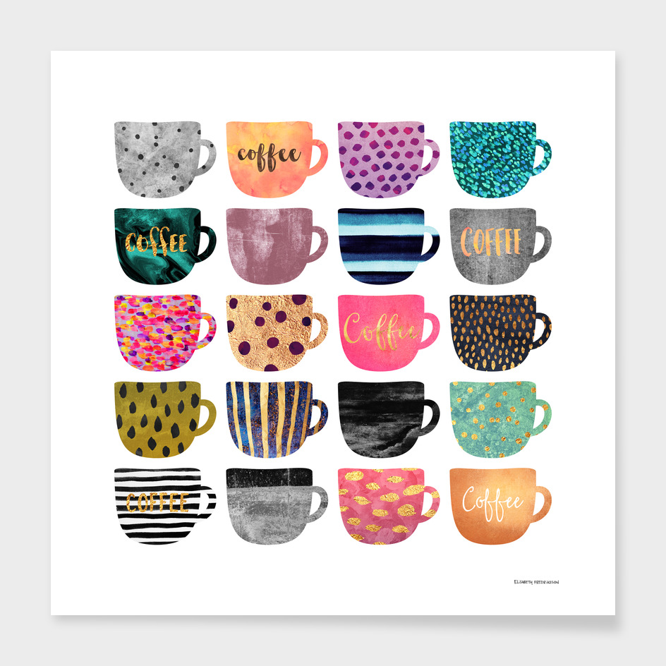 Pretty Coffee Cups main illustration