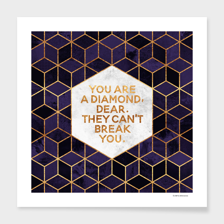 You are a diamond, darling. main illustration