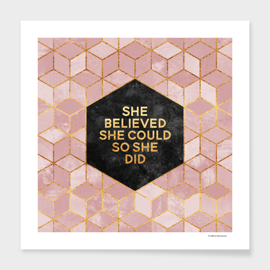 She believed she could, so she did main illustration