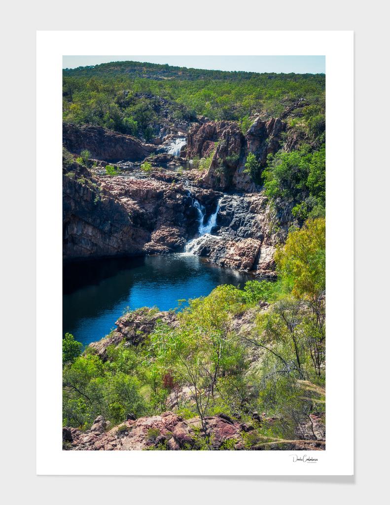 Pools and waterfalls at Edith Falls, Australia