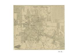 Vintage Map of Houston Texas (1913)
