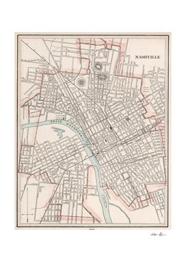 Vintage Map of Nashville Tennessee (1901)