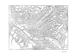 Vintage Map of Pittsburgh Pennsylvania (1885)