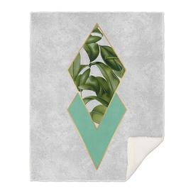 Leaves on marble