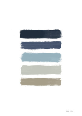 Blue & Taupe Stripes