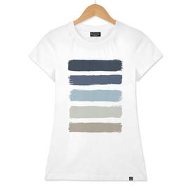 Blue & Taupe Stripes