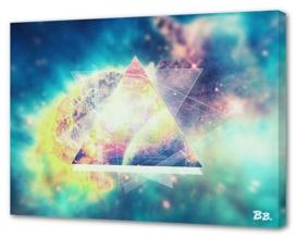 Awsome collosal deep space triangle art sign