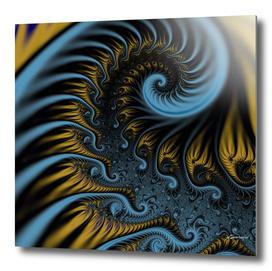 Dark blue fractal