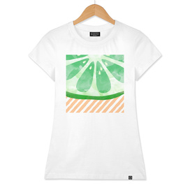 Lime Abstract