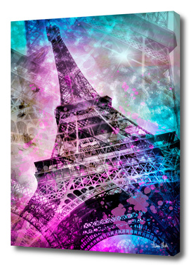 Pop Art Eiffel Tower