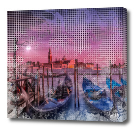 Graphic Art VENICE Gorgeous Sunset