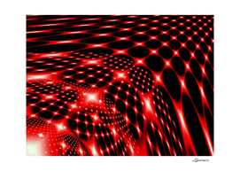 Red glowing net pattern
