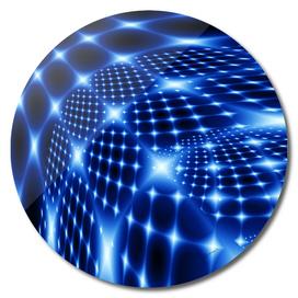 Blue glowing net