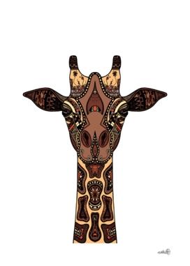 Coloured Giraffe Illustration/Drawing