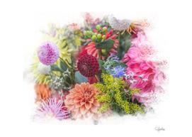 Multicolored Floral Bouquet