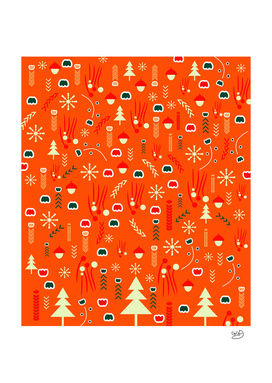 Joyful Christmas pattern