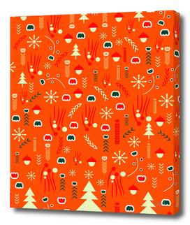 Joyful Christmas pattern