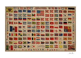 Vintage Flags of The World Illustration (1869)