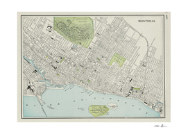 Vintage Map of Montreal Canada (1901)