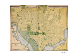 Vintage Map of Washington DC (1905)