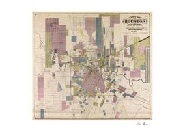 Vintage Map of Houston Texas (1895)