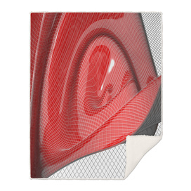 Red waving mathematical surface