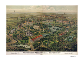 Vintage Pictorial Map of Nashville TN (1897)