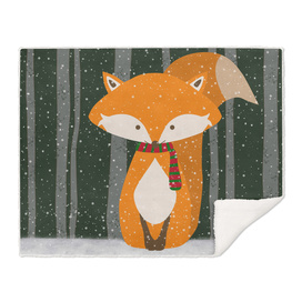 Fox Wintery Holiday Design