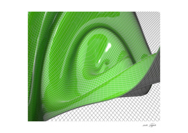 Green waving mathematical surface