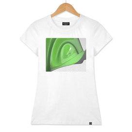 Green waving mathematical surface