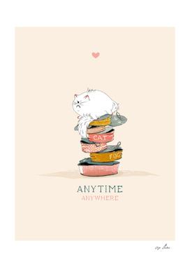 Cat love food