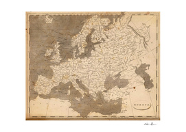 Vintage Map of Europe (1804)