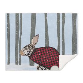 Rabbit Wintery Holiday Design