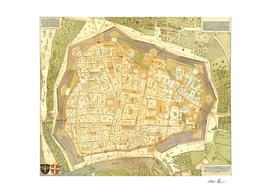 Vintage Map of Vienna Austria (1547)