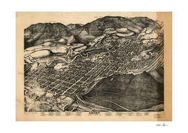 Vintage Pictorial Map of Aspen Colorado (1893)