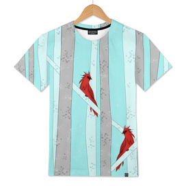 Holiday Forest Cardinals Design