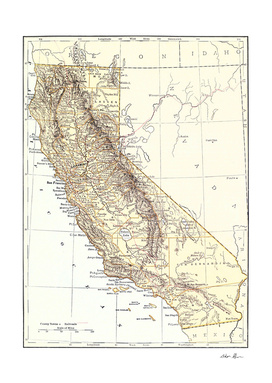 Vintage Map of California (1878)