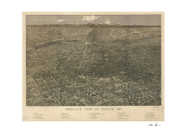 Vintage Pictorial Map of Denver Colorado (1887)