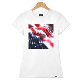 Water waves on american flag