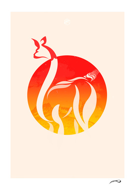 Fire Alpaca by #Bizzartino