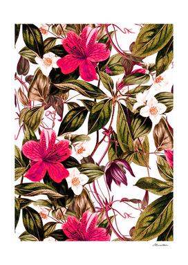 Floral botanical antique pattern
