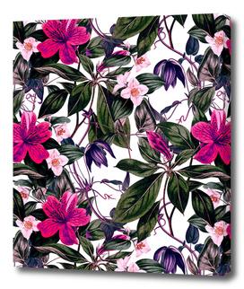 Pattern antique botanical flowers I
