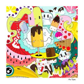 Crazy summer doodle