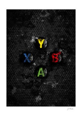 Xbox buttons splatter painting